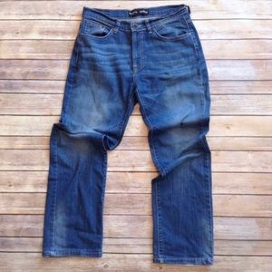 Pepe Jeans London lightly distressed blue jeans